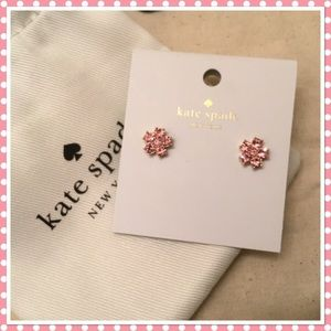 Kate Spade Pink Stone Flower Earrings - NWT